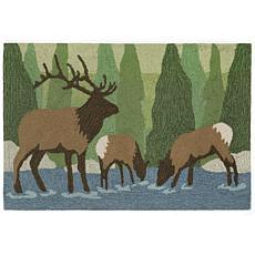 """Liora Manne Frontporch Elk - Forest - 20"""" x 30"""""""