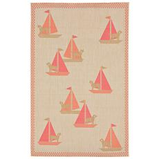 "Liora Manne Playa Sailing Dogs Rug - Summer - 4'10"" x 7"