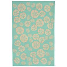 "Liora Manne Shell Toss Rug - Turquoise - 7'10"" x 9'10"""