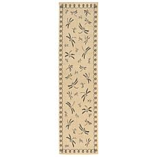 "Liora Manne Terrace Dragonfly Rug - Neutral - 23"" x 7-1"