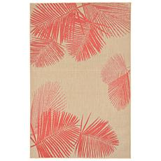 "Liora Manne Terrace Palm 39"" x 59"" Rug - Coral"
