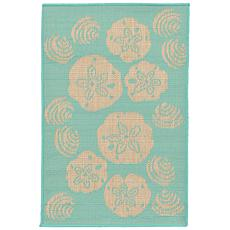 "Liora Manne Terrace Shell Toss 23"" x 35"" Rug- Turquoise"