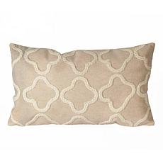 Liora Manne Visions II Crochet Tile Pillow - White