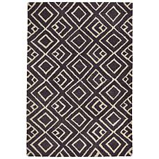 Liora Manne Wooster Kuba Rug - Charcoal - 5' x 7-1/2'