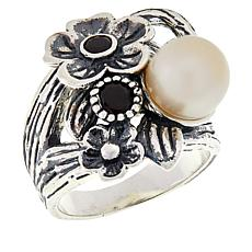 LiPaz Floral Design Sterling Silver Multi-Gemstone Ring
