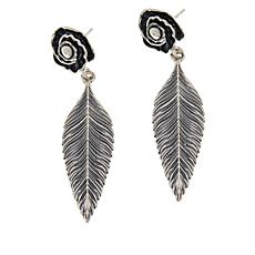 LiPaz Sterling Silver Leaf Drop Earrings