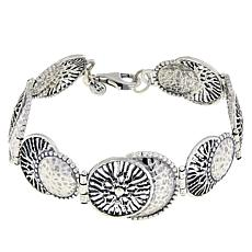 LiPaz Sterling Silver Multi-Textured Station Bracelet