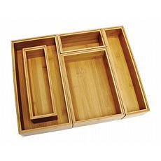 Lipper 5-Piece Bamboo Organizer Boxes Set