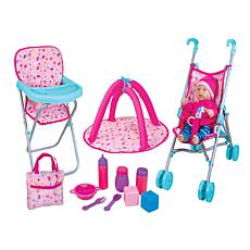 "Lissi 12"" Baby Doll with Umbrella Stroller Playset"