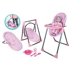 Lissi Doll 4-in-1 Baby Doll Highchair Set
