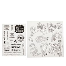 Little Darlings Boy Oh Boy! 31-piece Stamp Set