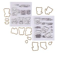 Little Darlings Puppies and Kittens Stamp and Die Set