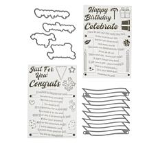 Little Darlings Stacked Wave Sentiments Stamp and Die Set