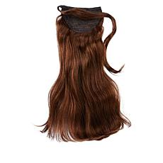 "Locks & Mane Milk Chocolate 14"" Human Hair Clip Ponytail"