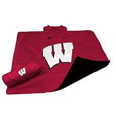 Logo Chair All-Weather Blanket - Un. of Wisconsin