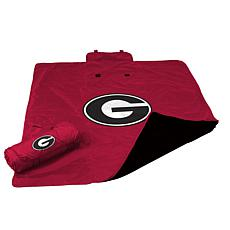 Logo Chair All Weather Blanket - University of Georgia