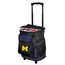 Logo Chair Rolling Cooler - University of Michigan