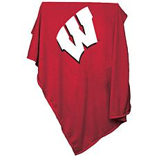 Logo Chair Sweatshirt Blanket - University of Wisconsin