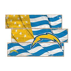 Los Angeles Chargers Flag 3 Plank