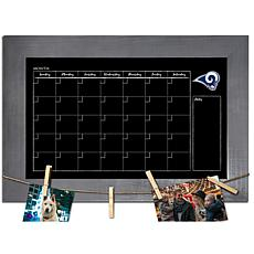 Los Angeles Rams Monthly Chalkboard with frame & clothespins 11x19 ...