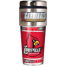 Louisville Cardinals Travel Tumbler w/ Metallic Graphic