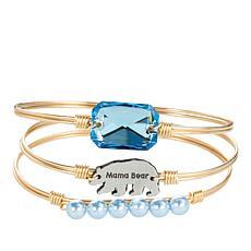 Luca + Danni Mama Bear 3-piece Stack Bracelet Set