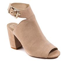 Lucca Lane Seleste Suede Open-Toe Ankle Wrap Shootie