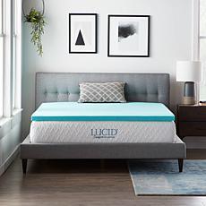 """LUCID Comfort Collection 2"""" Gel Memory Foam Mattress Topper - Twin XL"""