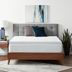 """Lucid Comfort Collection 2"""" Gel Memory Foam Topper with Cover, King"""