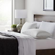 Lucid Comfort Collection 2-Pk Fbr/Shred Foam Pillow w Inner Cvr-Stndrd