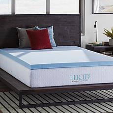 "LUCID Comfort Collection 3"" Gel Memory Foam Mattress Topper - King"