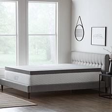 """LUCID Comfort Collection 4"""" Bamboo Charcoal Memory Foam Top - Cal King"""