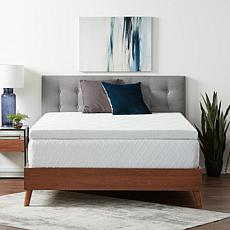 """Lucid Comfort Collection 4"""" Gel Memory Foam Topper w/Cover, Cal-King"""