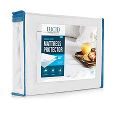 LUCID Comfort Collection Bamboo Jersey Mattress Protector - Full