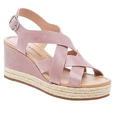 Lucky Brand Baymeer Leather Espadrille Wedge Sandal