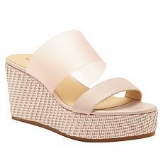 Lucky Brand Brindia Leather Platform Wedge Sandal