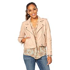 Lucky Brand Core Leather Moto Jacket  - Missy