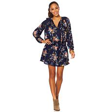 Lucky Brand Floral Drop-Waist Tunic Dress