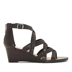 Lucky Brand Jewelia Leather Wedge Sandal