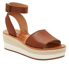 Lucky Brand Joodith Leather Espadrille Platform Sandal