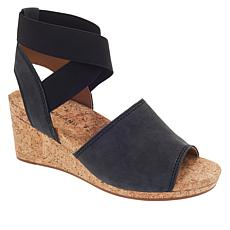 ca1b47679351 Lucky Brand Kyla Leather Ankle Wrap Wedge Sandal