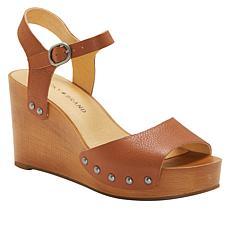 Lucky Brand Zashti Leather Platform Wedge Sandal