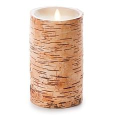 "Luminara 7"" Birch Bark Wrapped Flameless Candle"
