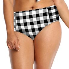 Lysa Gingham High-Rise Bikini Bottom