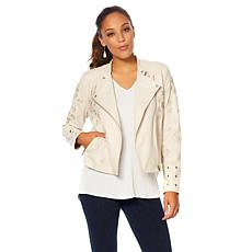 LYSSE Embroidered Jamie Grommet Jacket - Missy