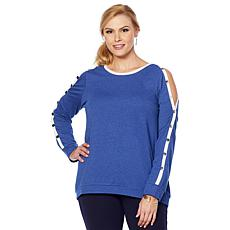 LYSSE French Terry Snap Sweatshirt - Plus