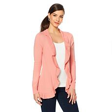 LYSSE Ruffled Edge Cardigan - Plus