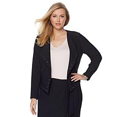 LYSSE Stretch Crepe Grommet Jory Jacket - Plus