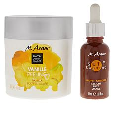 M. Asam Self Tanning Face Drops & Body Exfoliant