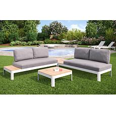 Maddux Outdoor Aluminum 4pc Modular Conversation Set